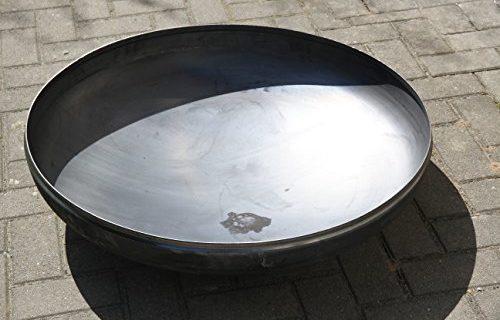 Pflanzschale 80 cm Ø 800 x 2,5 mm Klöpperboden Feuerschale Edelstahl
